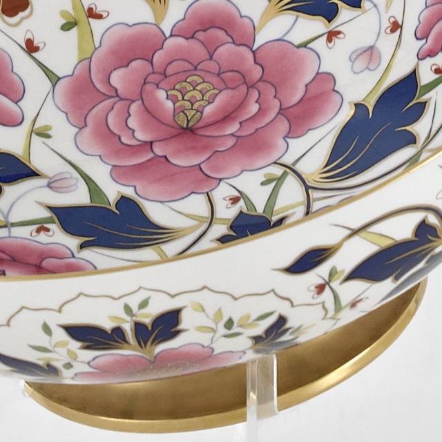 Gold Gilded Large Floral Bowl