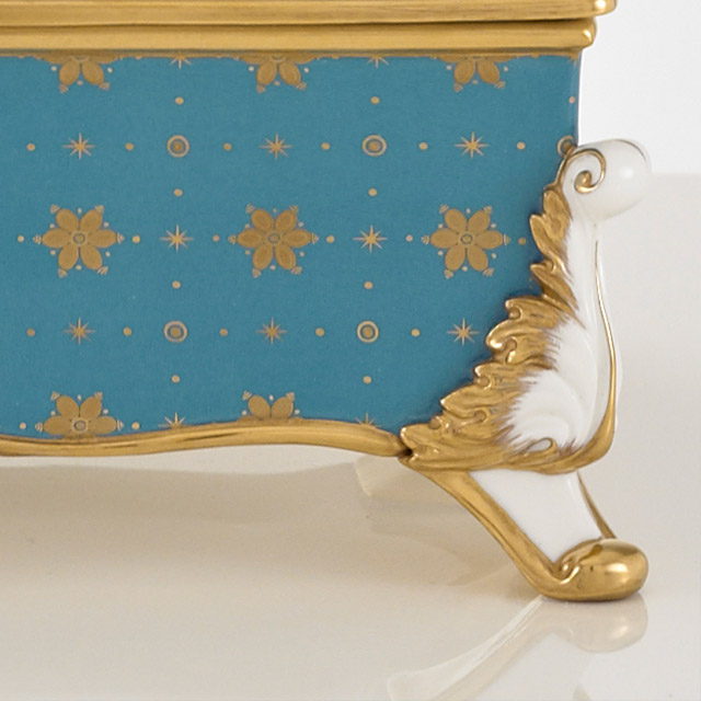 Hand Gold Gilding Fine Bone China Box