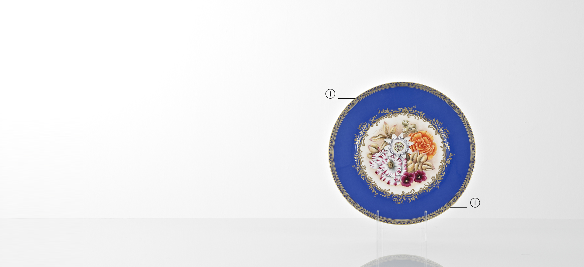 British Luxury Ceramics Floral Service Plate