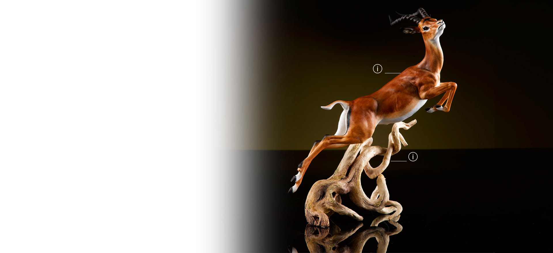 British Luxury Ceramics Fine Bone China Animal Sculpture Impala